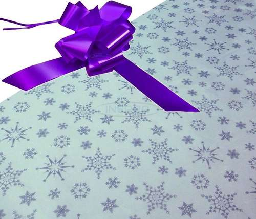 purple hamper wrapping kit cellophane bow christmas