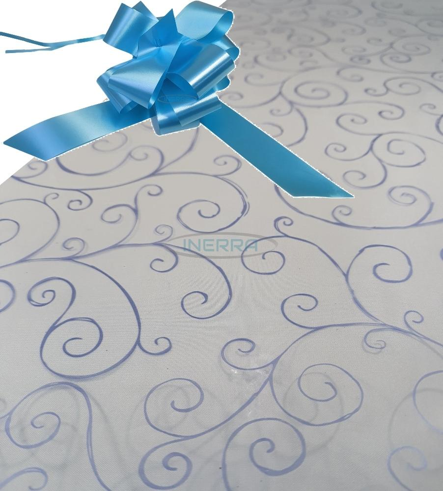 hamper wrapping kit cellophane wrap bow baby blue