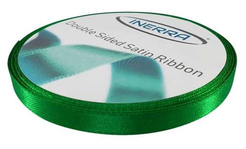 emerald green satin 10mm ribbon