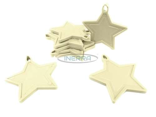 cream star balloon weights