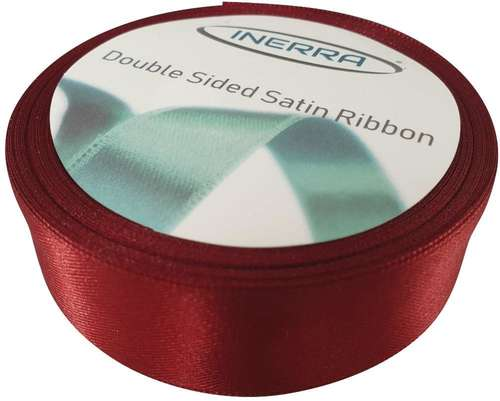 burgundy 25mm satin ribbon
