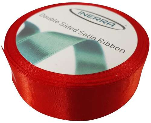 red satin 25mm ribbon