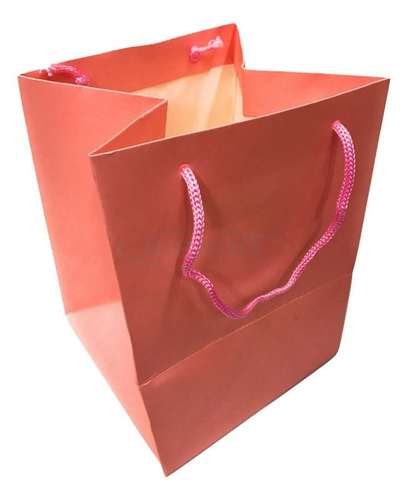 light pink christmas gift bag rope handles