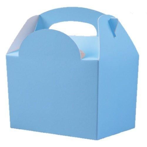 baby blue kids party boxes food