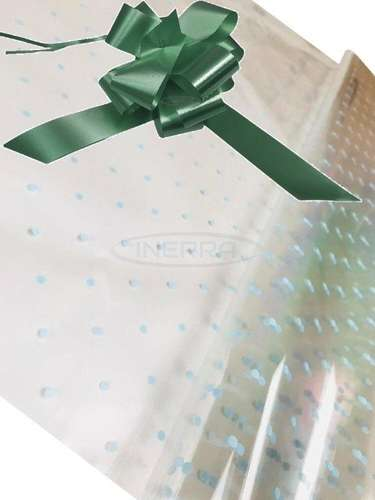 hunter green blue dot cellophane baby shower gifts hamper basket wrapping cellophane and bow