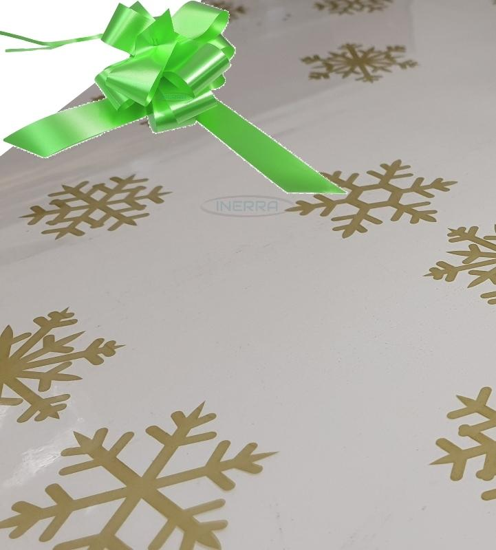 lime green christmas cellophane wrap for hampers snowflakes bow