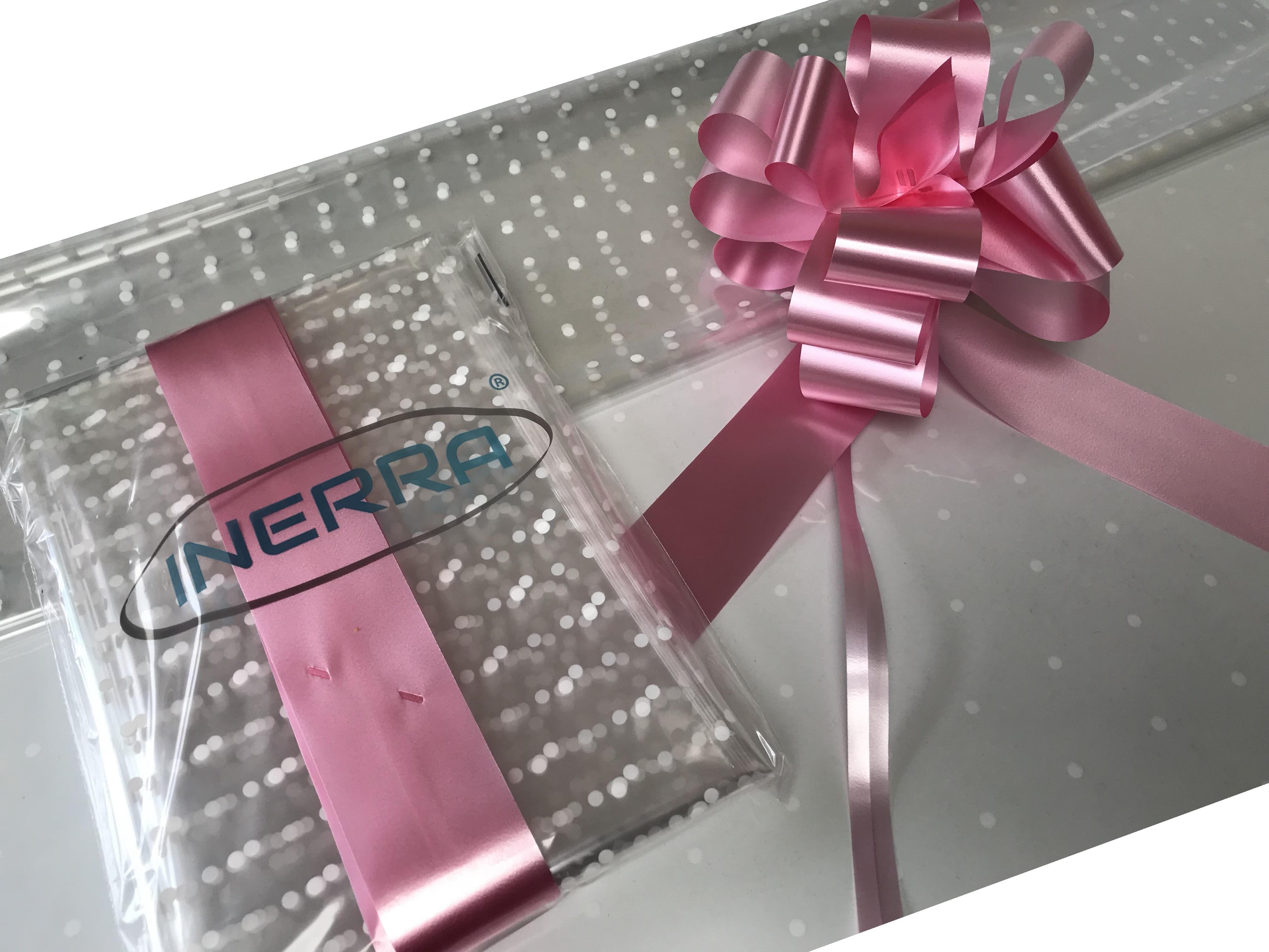 baby pink hamper wrapping kit gift basket christmas cellophane wrap and bow