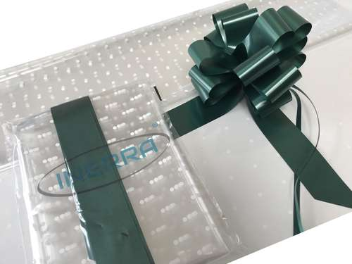 hunter green hamper wrapping kit gift basket christmas cellophane wrap and bow