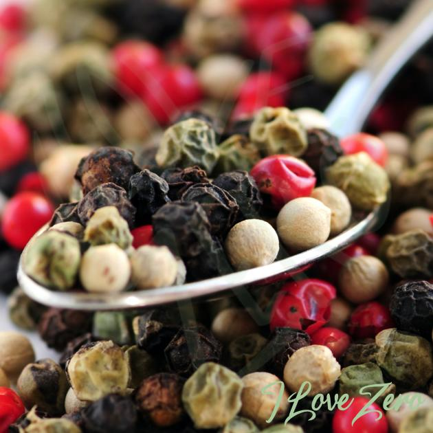 Mixed Peppercorns - black, white, green and pink