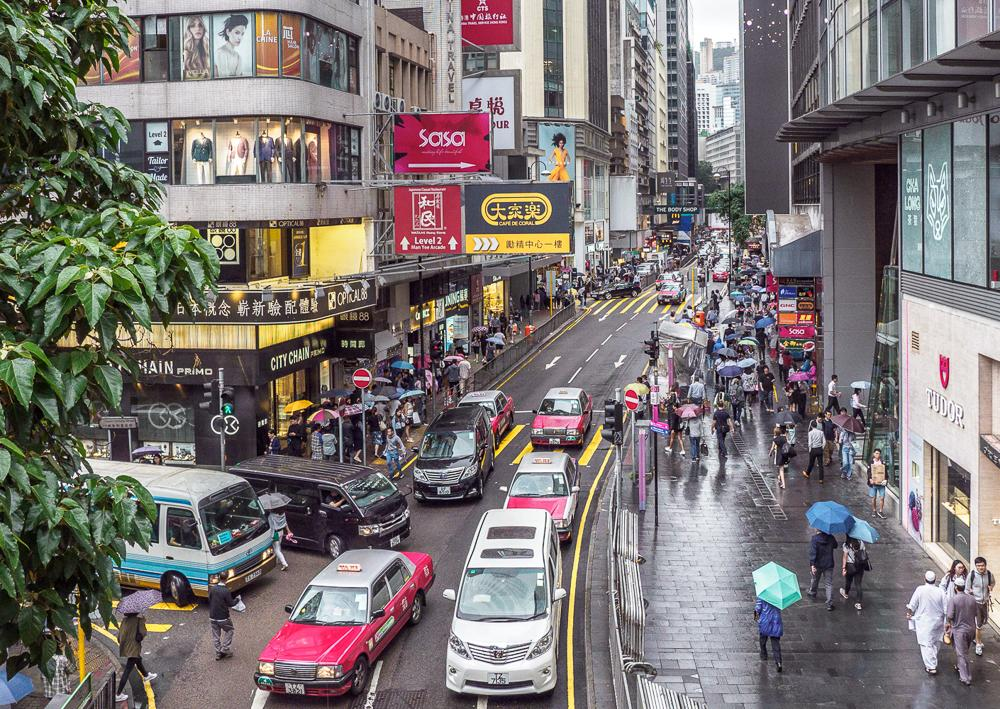 An image called Hong Kong Lunchtime, taken in the Centre of Hong Kong in April 2019.