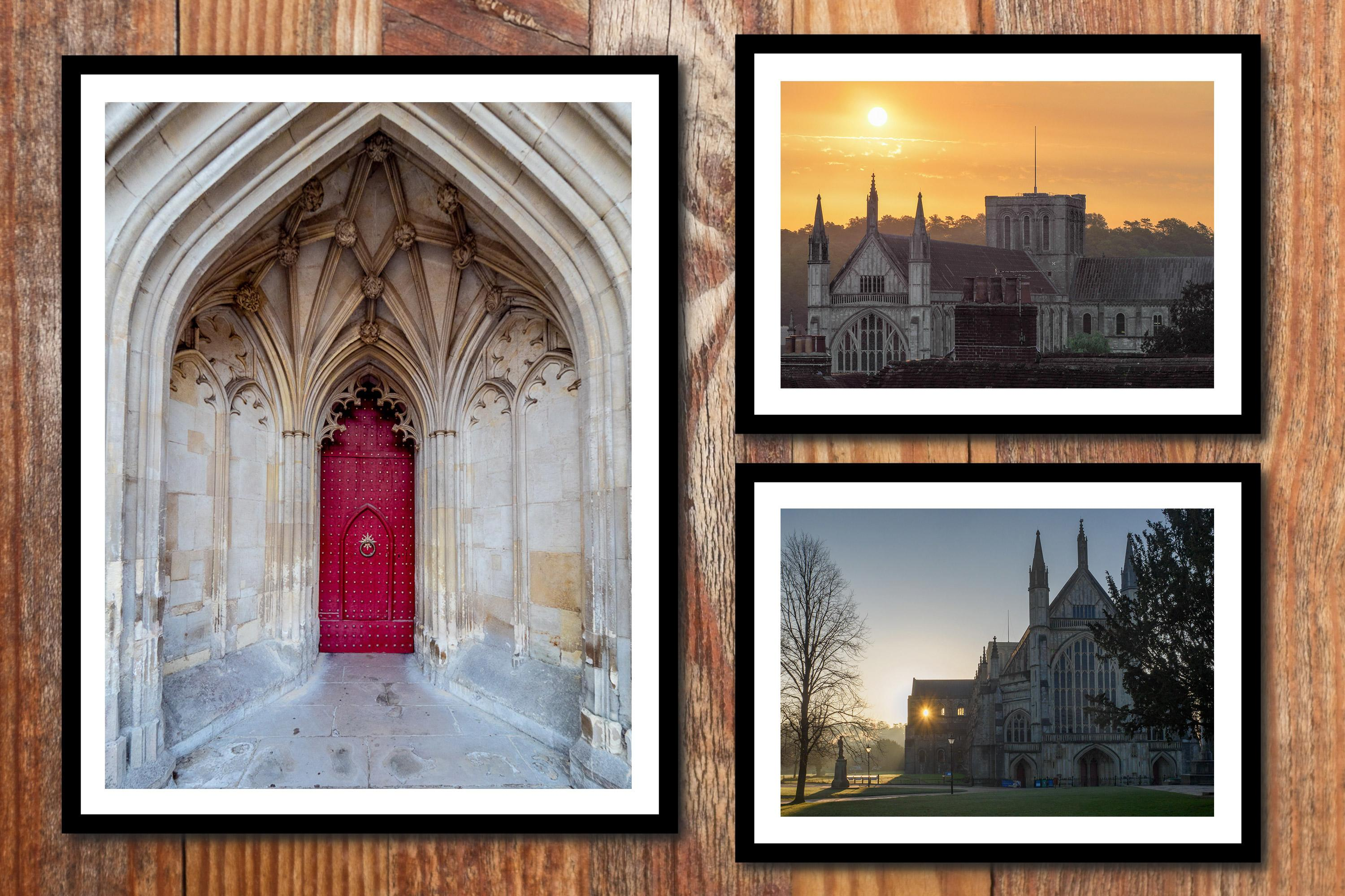 Winchester Cathedral Wall Art - 3 print gallery wall collection