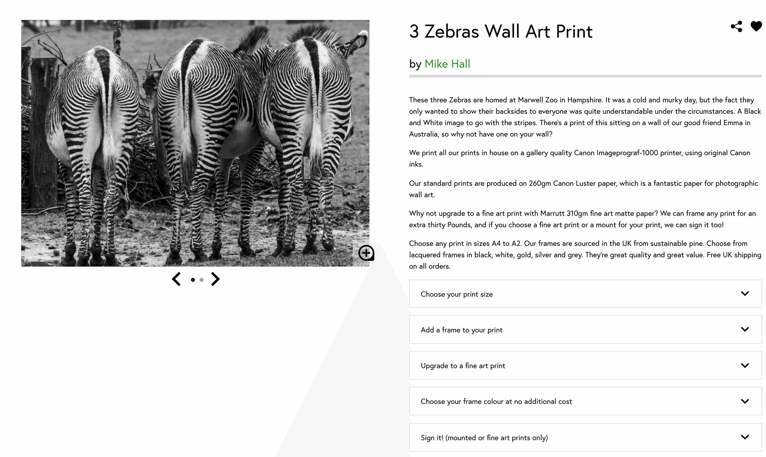 How to choose a framed print on our checkout