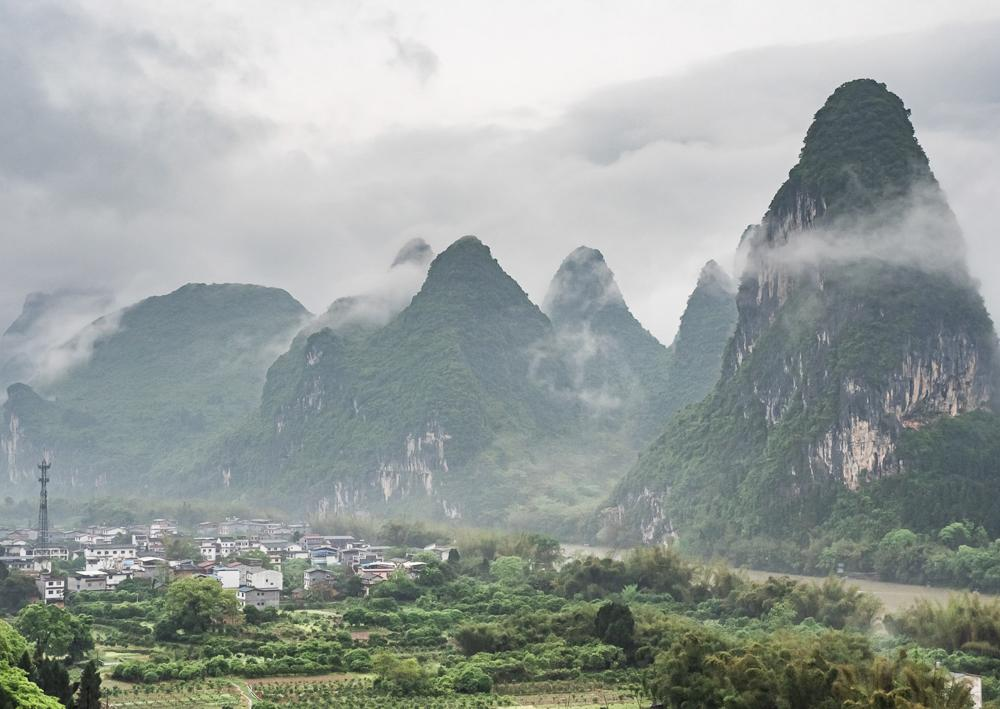 Guilin Hills I - a landscape image of the amazing scenery in Guilin China by the river Li