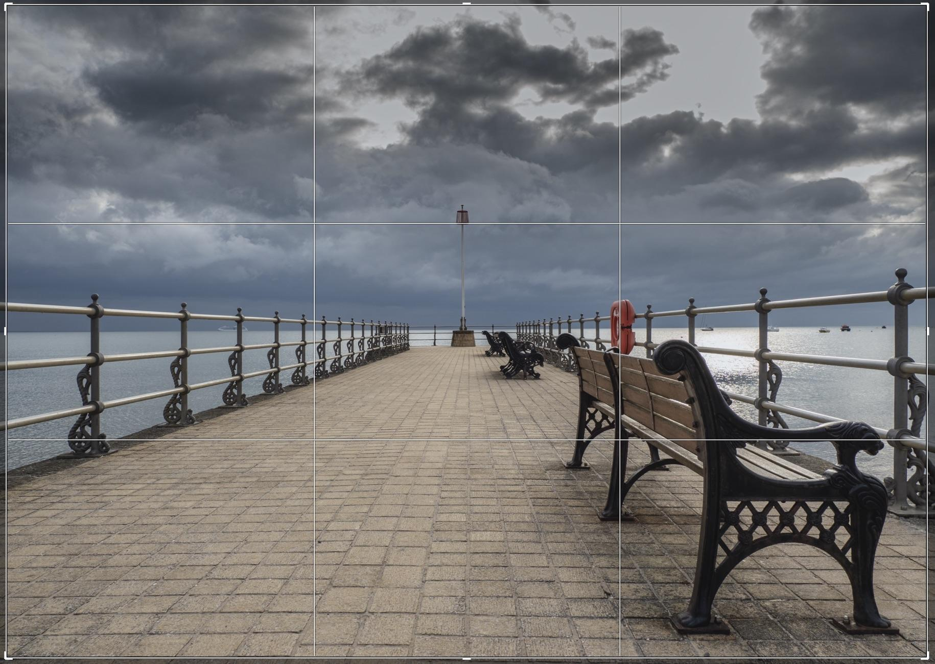 An alternative example of the Benches in Swanage that make up the image Benched. This one didn't make the cut.