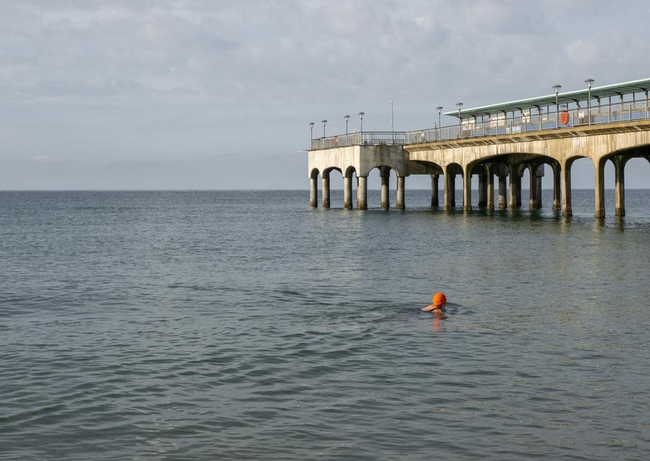 An image called Sea Swimmer in Orange Cap