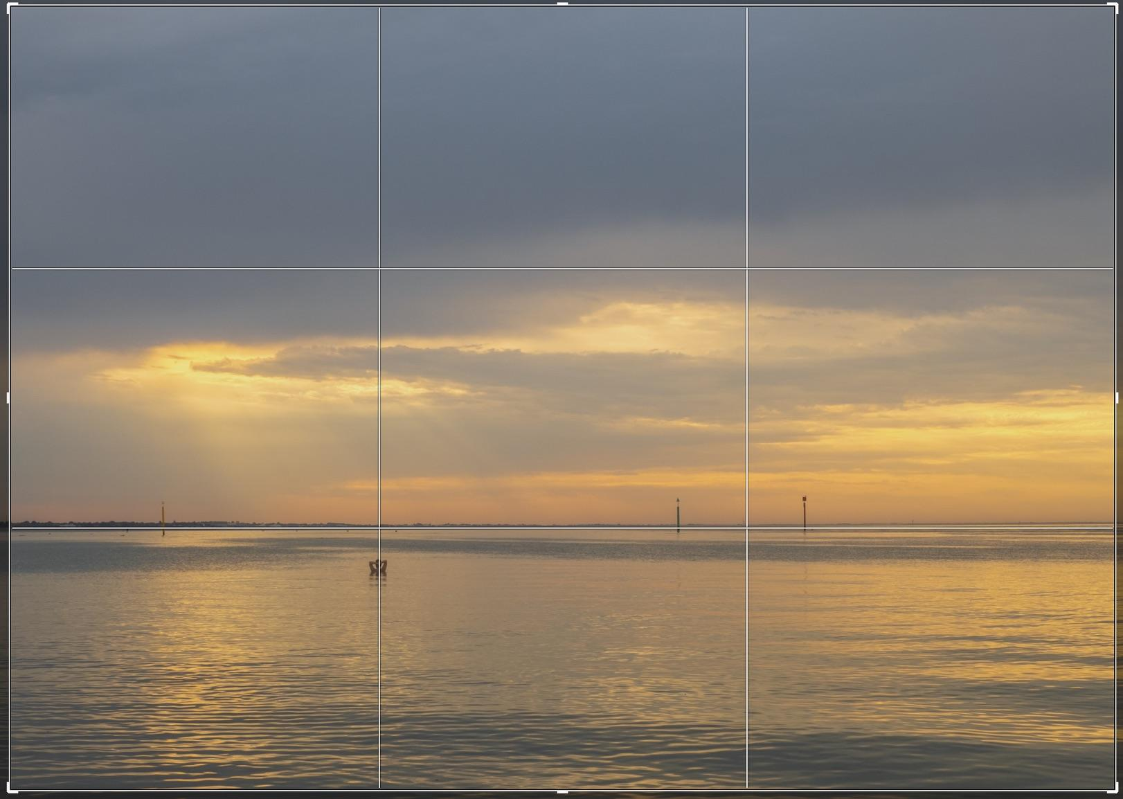 The first example of how the Rule of Thirds has been used in our print Dawn Dip