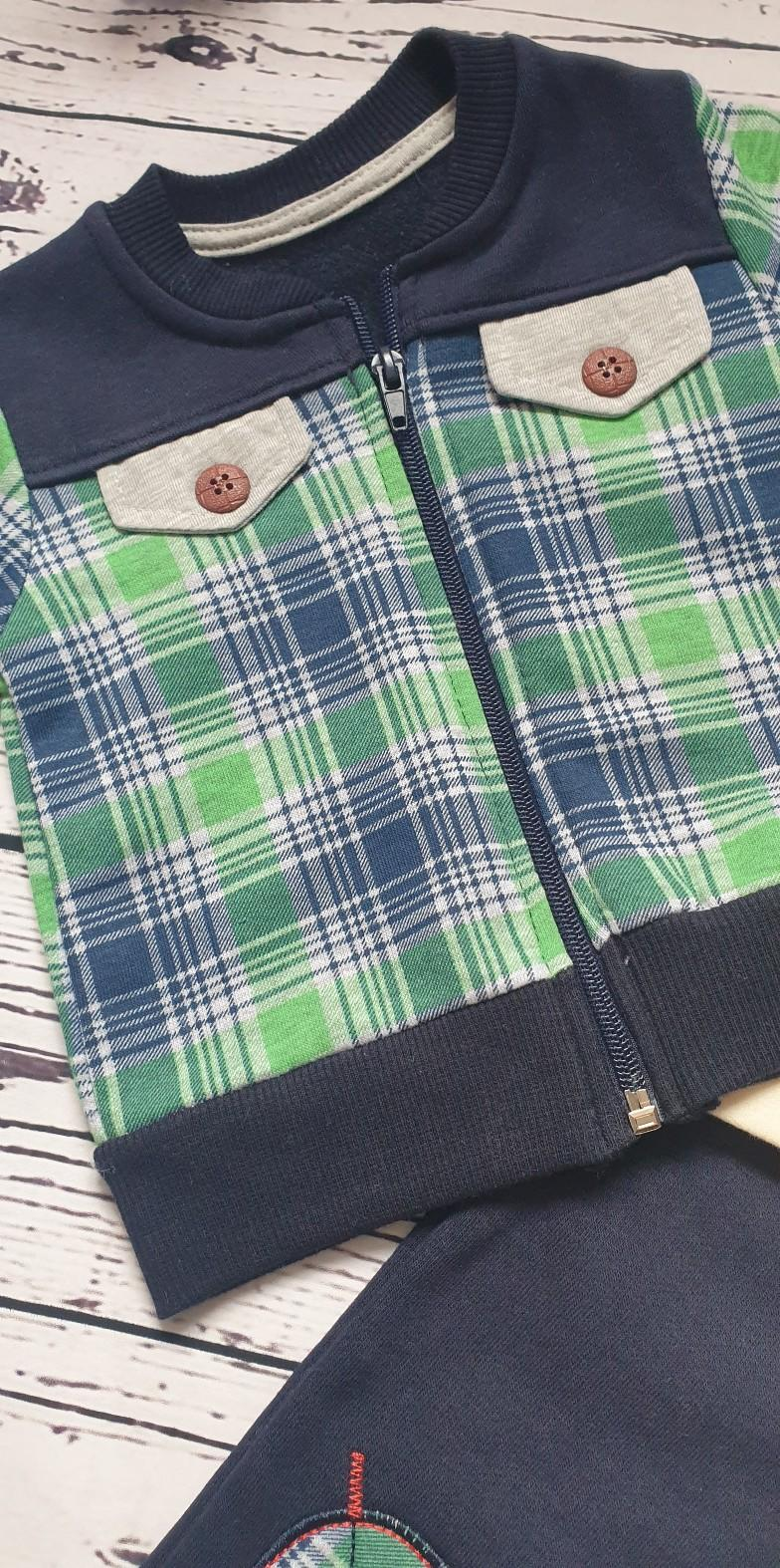 children wear baby boy checked set