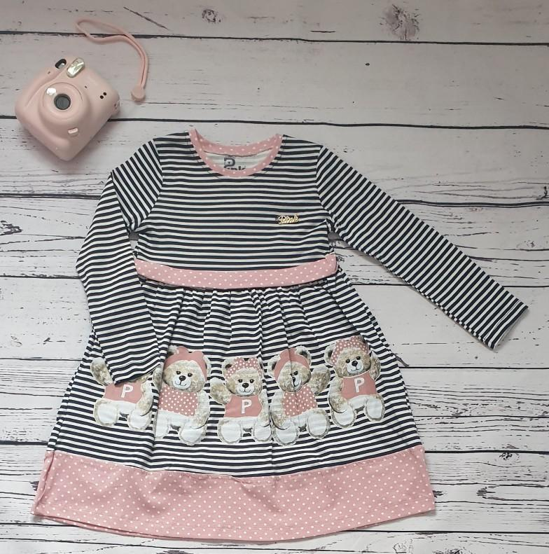 children wear girls dress teddy pink