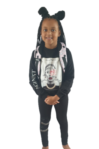 children wear girls sweatshirt black