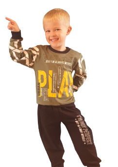 children wear boys tracksuit play