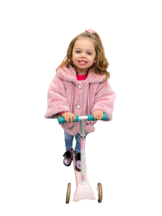 Children wear Cynthia girls fur coat pink