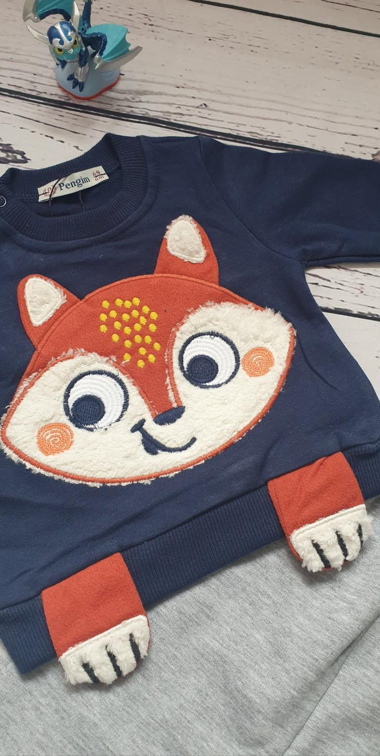 children wear baby boy set fox