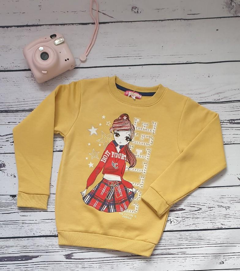 children wear girls sweatshirt mustard