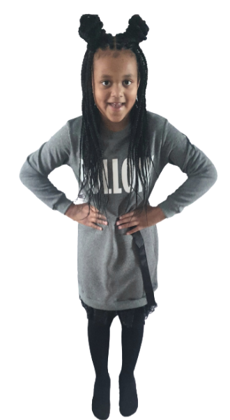 children wear girls jumper dress grey