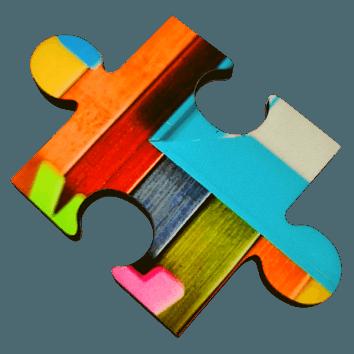 Message Box wooden jigsaw piece