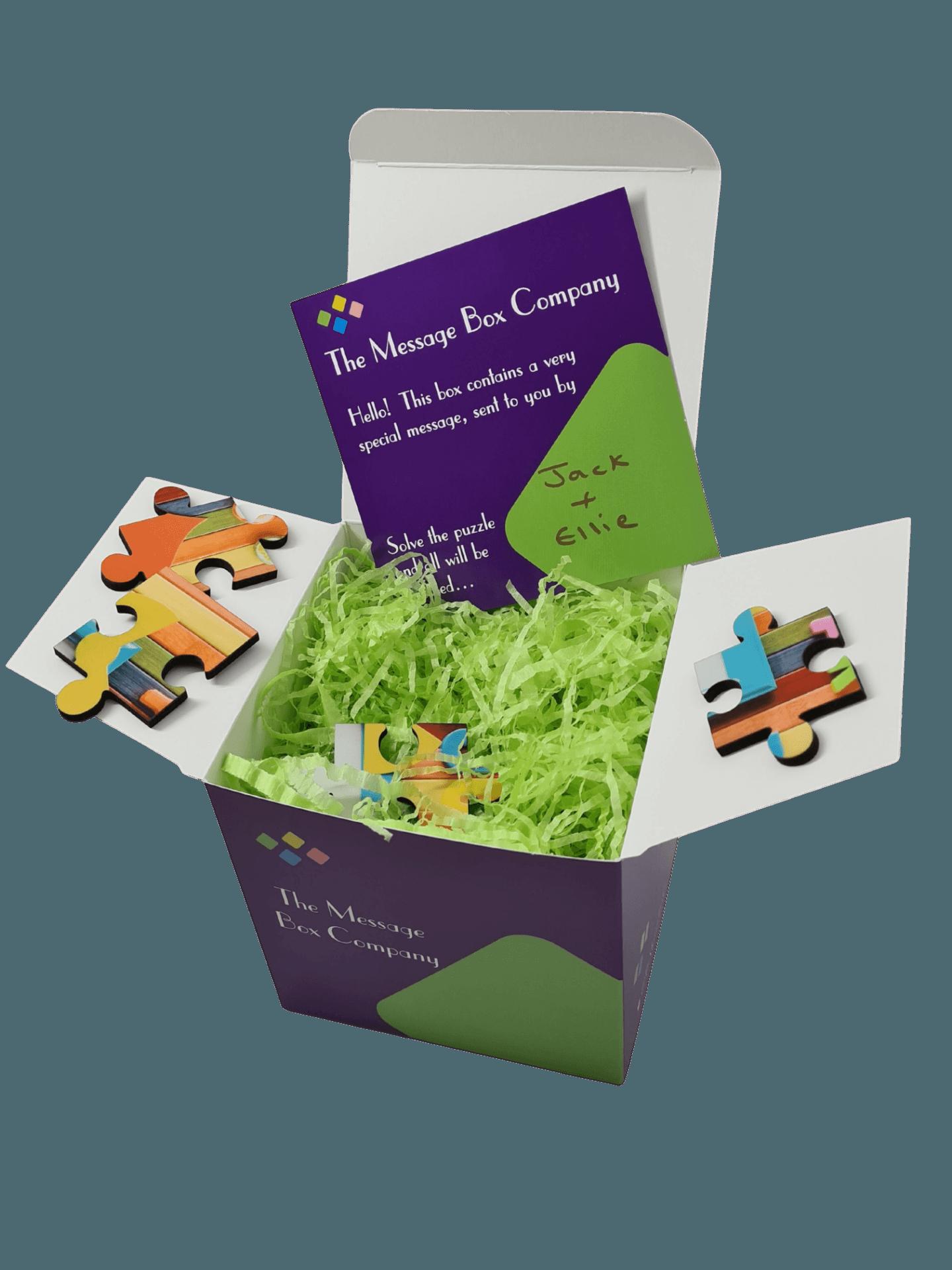 Message Box jigsaw gift box