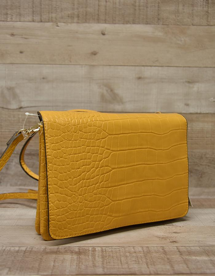 H&M MUSTARD YELLOW FAUX LEATHER BAG