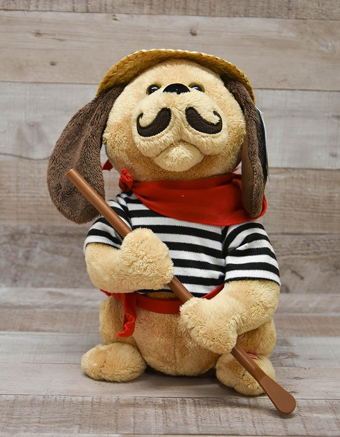 THE WANDERING MONKEY CO.LTD GONDOLIER DOG PLUSH SINGING TOY