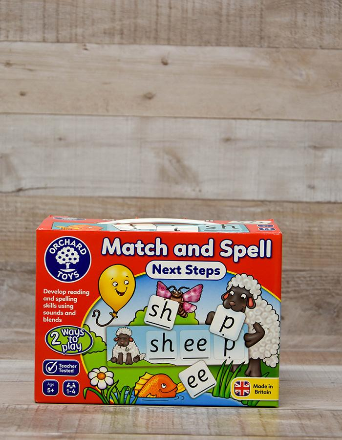 ORCHARD TOYS MATCH AND SPELL NEXT STEPS READING GAME
