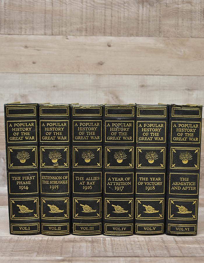 A POPULAR HISTORY OF THE GREAT WAR HARDBACK BOOKS - 6 VOLUMES