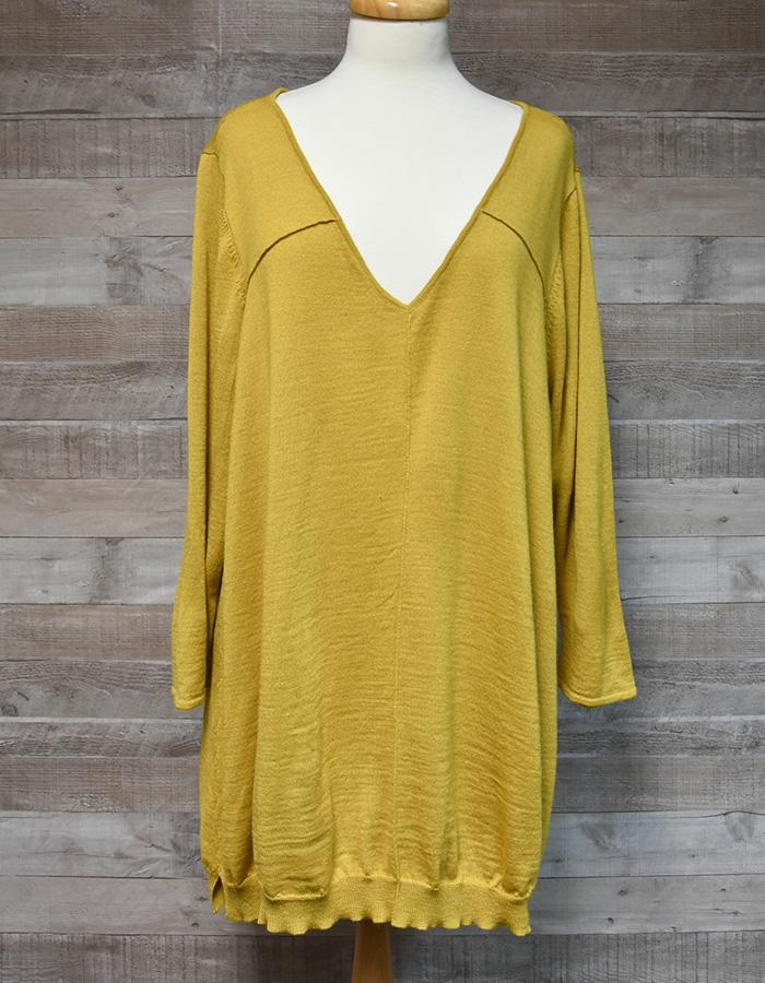 STUDIO 8 BY PHASE EIGHT YELLOW WOOL MIX LADIES OVERSIZED JUMPER SIZE 24