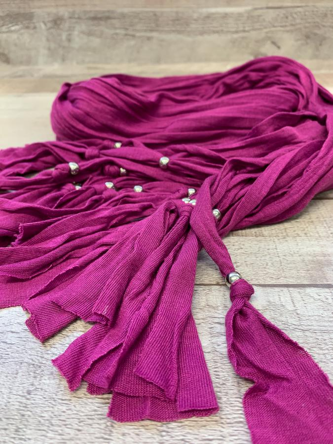 PURPLE JERSEY STRETCH SCARF WITH SILVER BEADS13-02-2021 at 14.25.44 2.JPG