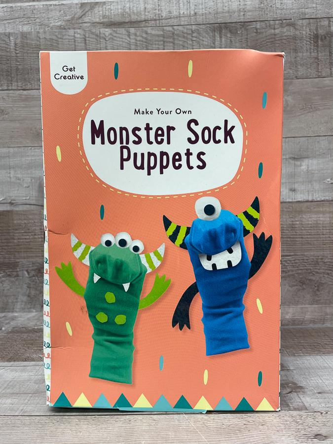 GET CREATIVE MAKE YOUR. OWN MONSTER SOCK PUPPETS
