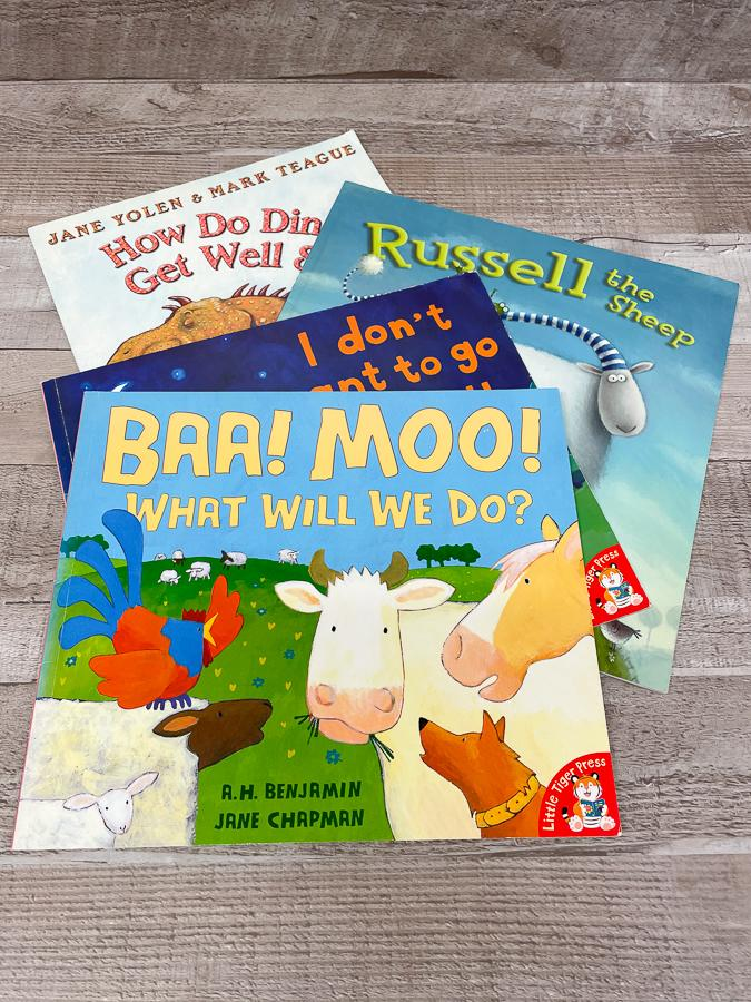 SET OF FOUR CHILDRENS BOOKS INCLUDING BAA MOO WHAT WILL WE DO A H BENJAMIN.JPG