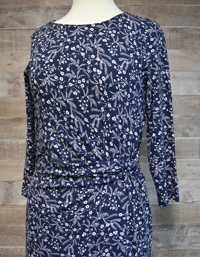 LAURA ASHLEY BLUE VISCOSE FLOWER PRINT DRESS SIZE 10