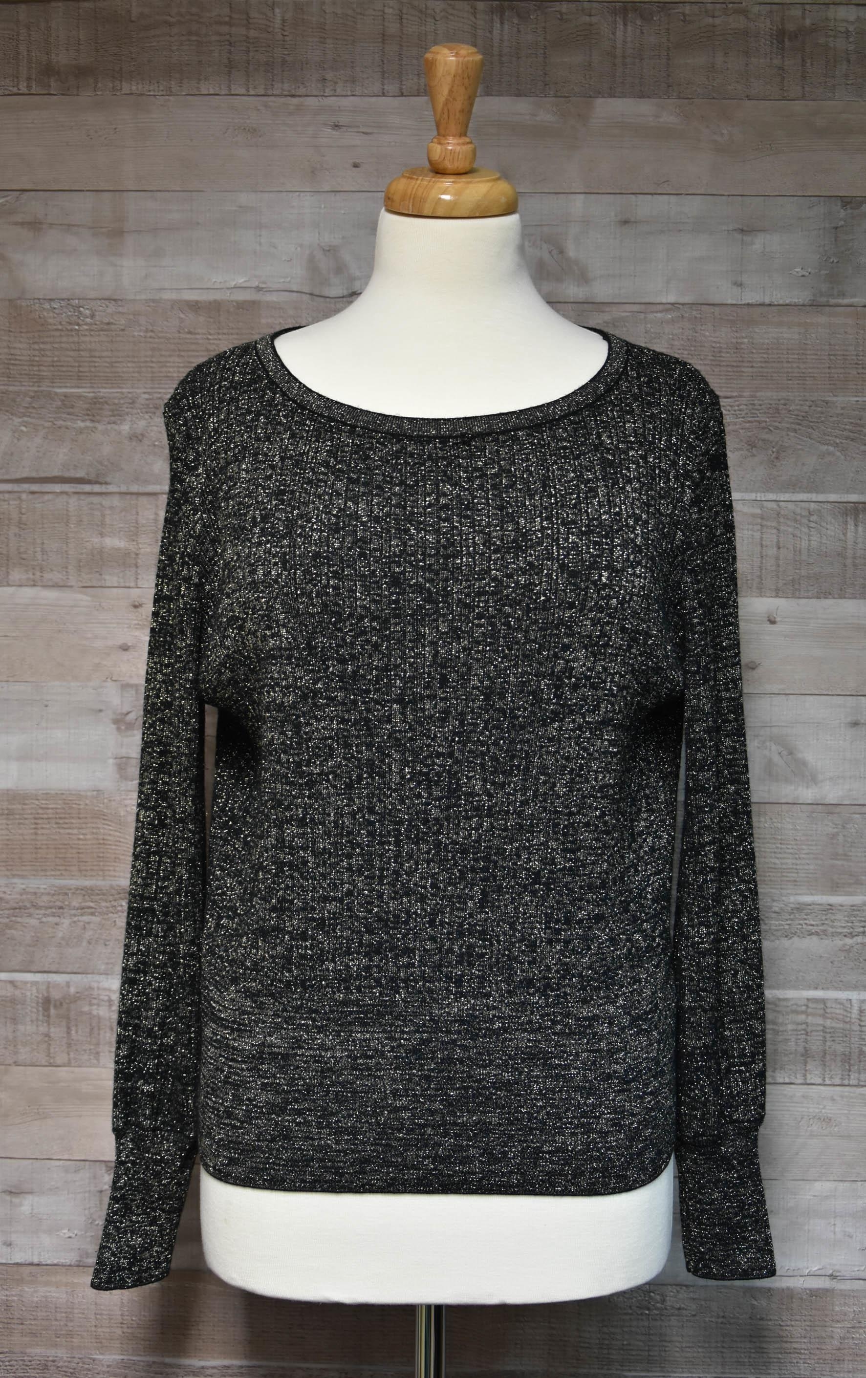 Marks and Spencers  Gold and Black Glitter Ladies Jumper Size Medium27-01-2021 at 09.44.06