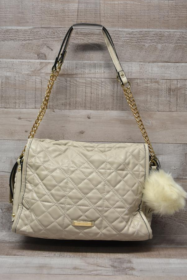River Island Beige Quilted Faux Leather Handbag with Faux Fur Pompom05-02-2021 at 15.41.21 2.jpg