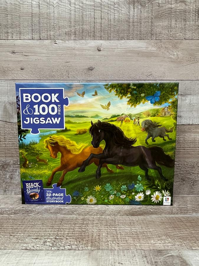 HINKLER BLACK BEAUTY BOOK AND 100 PIECE PUZZLE.JPG