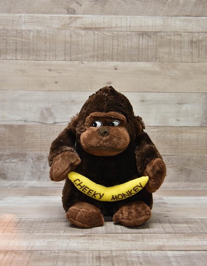 PLUSH GORILLA HOLDING CHEEKY MONKEY BANANA