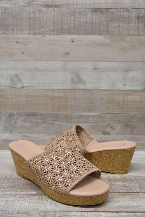 Marks and Spencers Dusky Pink Wedge Ladies Mules Size 6.505-02-2021 at 15.36.04 2.jpg