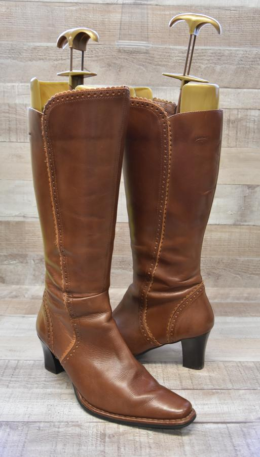 Pikolinos Tan Leather Ladies Heeled Boots Size 513-02-2021 at 11.34.49 2.jpg