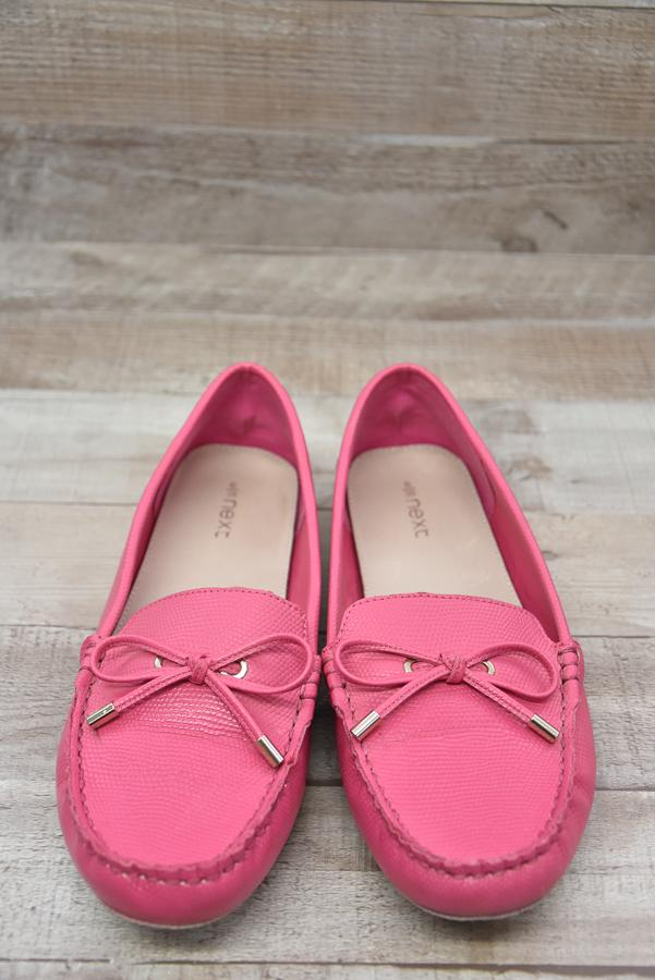 NEXT BRIGHT PINK FAUX LEATHER MOCCASIN STYLE SHOE SIZE 613-02-2021 at 14.08.22 2.JPG