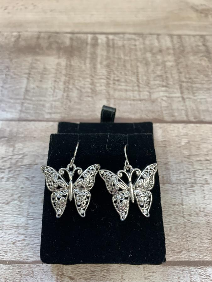 SILVER COLOURED BUTTERFLY DROP EARRINGS IN GIFT BOX13-02-2021 at 14.28.45 2.JPG