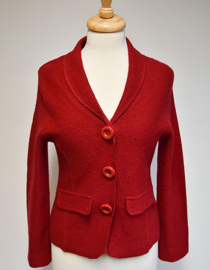 Hobbs red wool jacket. Size 12.