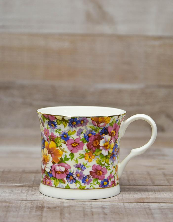 CREATIVE TOPS `ROYAL CHINTZ` FINE BONE CHINA FLORAL MUG