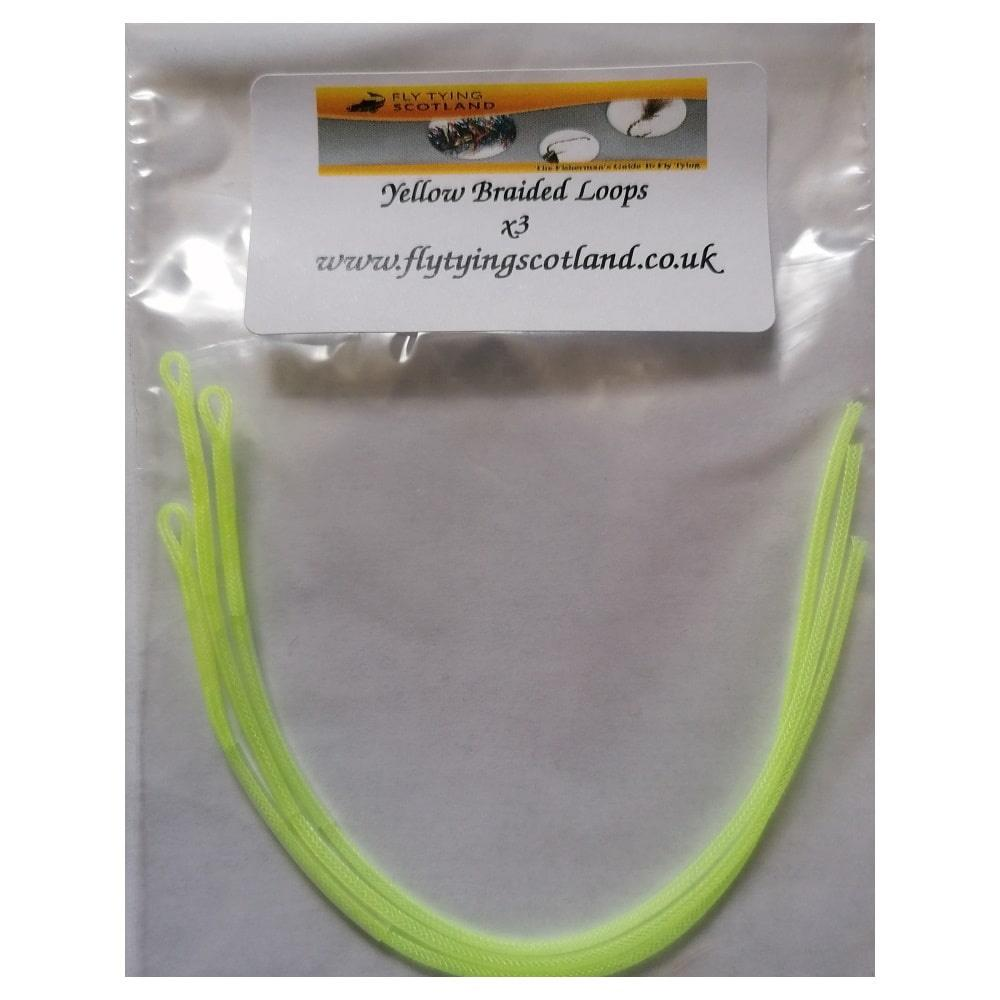 braided loops yellow
